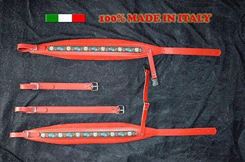Gurte für Akkordeon Akkordeongurte Akkordeonriemen FOLK 8 CM DELUXE 100% italienische Produktion