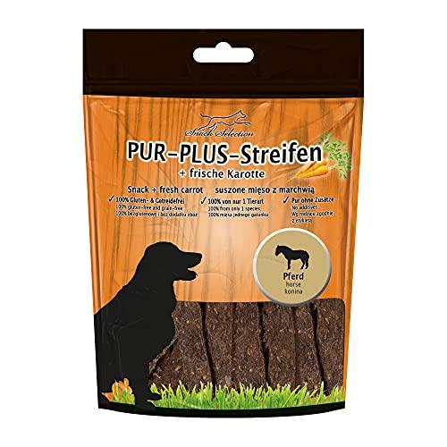 Schecker 10x 100g Pferd + Karotte - Kaustreifen Meat Strips - glutenfrei - Keine weiteren Zutaten - Keine Zusatzstoffe - Ideal für empfindliche Hunde