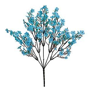 adonpshy 1Pc Simulation Gypsophila Handmade Realistic Faux Silk Flower Lifelike Fake Babysbreath for Indoor Artifical Flowers for Outdoors