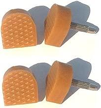 Ericotry 6 Pairs Heel Cap Durable U-Shape High Heel Tips Replacement Protectors Shoe Repair Tip Taps Shoes Dowels Non-Slip Durable Reduce Noise Size 8mm 9mm 10mm (Beige)