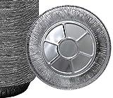 25 Pack 9'' Pie Pans/Disposable Plates/Aluminum Foil Quinche Pan/Tart Tins/Pie Tins/Aluminum Pie...