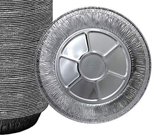 25 Pack 9'' Pie Pans / Disposable Plates / Aluminum Foil Quinche Pan / Tart Tins / Pie Tins / Aluminum Pie Pans