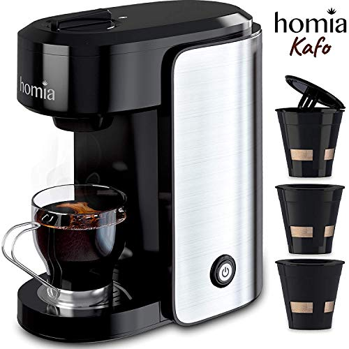 Coffee Maker Machine Single Serve - Electric Brewer for Ground Coffee, K-cup...