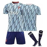 2021男性と男子サッカージャージーセット トレーニングセット 数字と名前特注可能 Ajax Tシャツ ショートパンツ ソックス No number-28