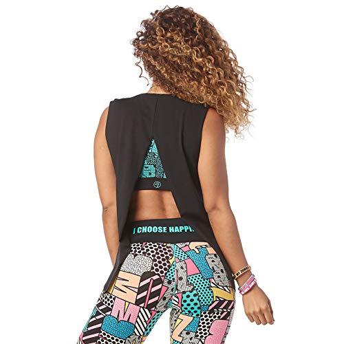 Zumba Camiseta de Entrenamiento Transpirable con Sexy Espald