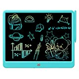 FLUESTON LCD Writing Tablet 15 Inches Colorful Screen Drawing Pad, Doodle and Scribbler Boards for Kids, Electronic Educational Learning Toys for 3-12 Year Old Boys