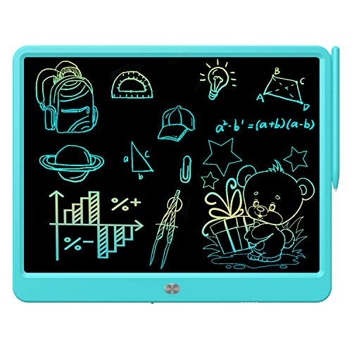 Green e-Writer Doodle Board and Colorful Screen Scribble pad for Kids Ages 3+ FLUESTON LCD Writing Board 9 Inch Drawing Tablet for Kids
