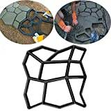 Walk Maker Mould Floor Path Mould Concrete Paver Mold, Cobblestone Design Concrete Cement Stepping Stone Mould...