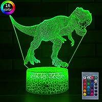 ナイトライト テーブルランプ ベッドサイドランプ 恐竜3Dナイトライト 常夜灯 間接照明 子供用 3Dプリント ランプ おしゃれ タッチセンサー式 リモコン付きRGB変換ライト/16色LED変換ライト 目に優しい 保育園 子供部屋 クリスマス 誕生日プレゼント-恐竜A