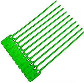 Heavy Duty Plastic Truck-Trailer Seals Numbered Security Tags Safety Ties Pull-Tight Pad-Locks Cable Pull Ties - Straps, M...