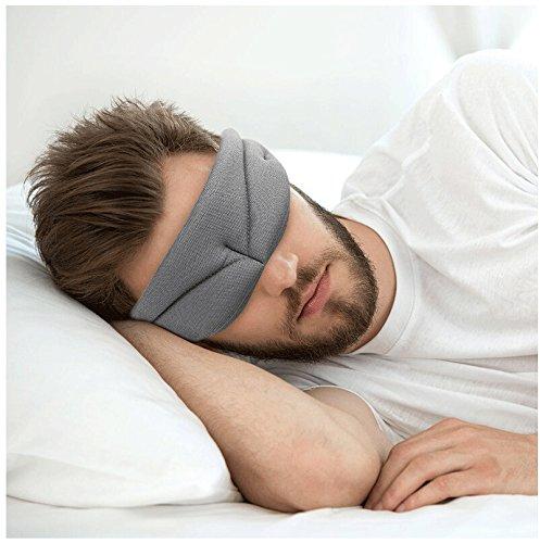 ✈Schlafmaske für Männer & Frauen Aviation Schlaf Augenmaske Mittagspause Reise Seide Hilfe...