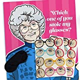 Pin the Glasses on Sophia – Golden Girls Party Game, (12 Players) Great for Birthday Party Decorations, Party Games for Adults, Bachelorette party. Birthday Party Game,or Bridal Shower Game.