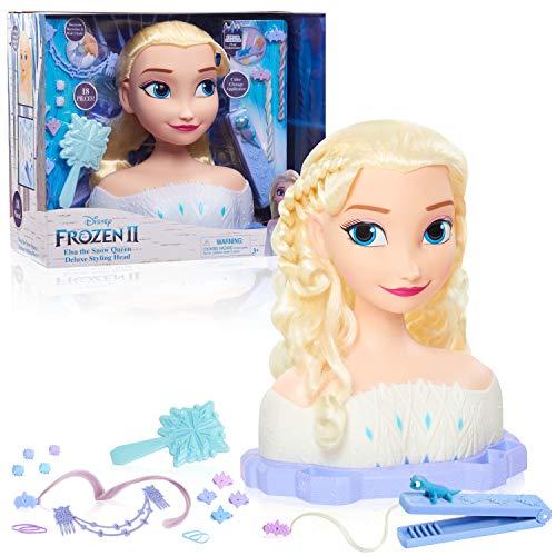 Disney Frozen 2 Deluxe Elsa The Snow Queen Styling Head, 17-Pieces