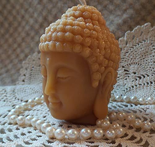 Beeswax Candle SMALL Buddha Head Sadhana Meditation Contemplation Altar Candle