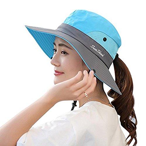Wennmole Mujer Plegable Sombrero de Sol Gorro de Protección...