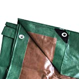 Moose Supply 20 Foot x 30 Foot Heavy Duty Waterproof Tarp | Green and Brown | Multi-Purpose UV Resistant Reversible Tarpaulin Cover for Tents, Landscaping, Boats, RVs, and Weather Protection