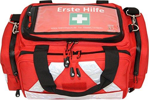 *Erste Hilfe Tasche – Notfalltasche PKW, Freizeit und Veranstaltung aus Nylon mit Waterstop Reißverschluss und Hals-Wirbelsäulen-Stützkragen Stifneck*
