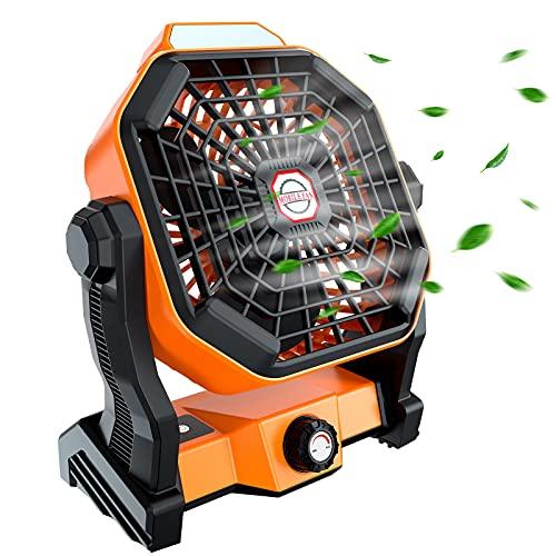 Zhovee Portable Fan Rechargeable, Battery Fan with Usb Fan, Outdoor Fan with Camping lanterns,...