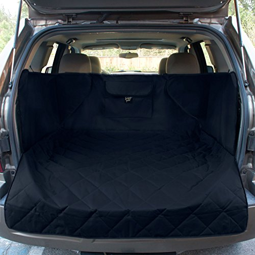 FrontPet Extra Wide Quilted Dog Cargo Cover for SUV Universal Fit for Any Animal. Durable Liner Covers and Protects Your Vehicle, Extended Width, Black