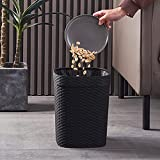 Bote de basura de plástico redondo, cesta de basura, cesta de...