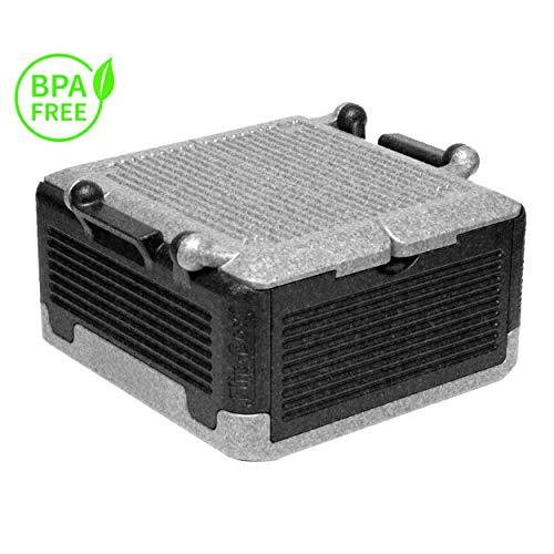 Lisk. Flip Box Black Bear Premium 25l - Isolierte & Faltbare Thermobox aus hochwertigem EPP für Einkäufe & Ausflüge (schwarz grau)