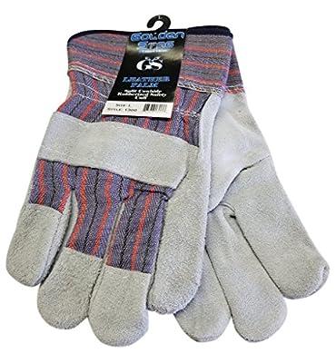 Golden Stag Leather Palm Split Cowhide Work Glove w/Safety Cuff (XX-Large)