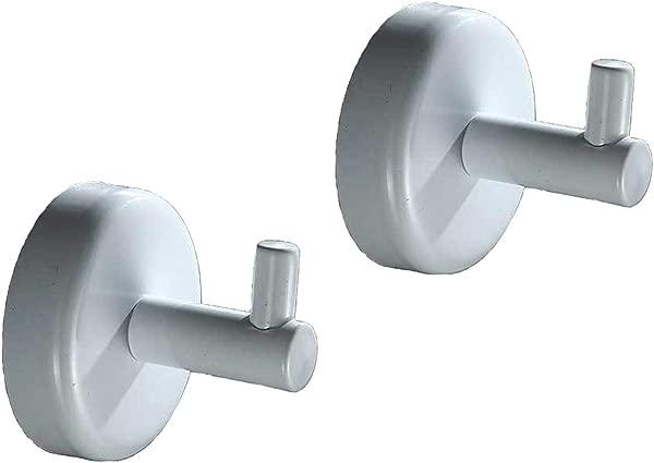 ICASA SUS 304 Stainless Steel Coat Hook Single Robe Bathroom Single Towel Hook 2 PCS Towel Rack For Bathroom Bedroom Kitchens Waterproof Heavy Duty Matte White Finish