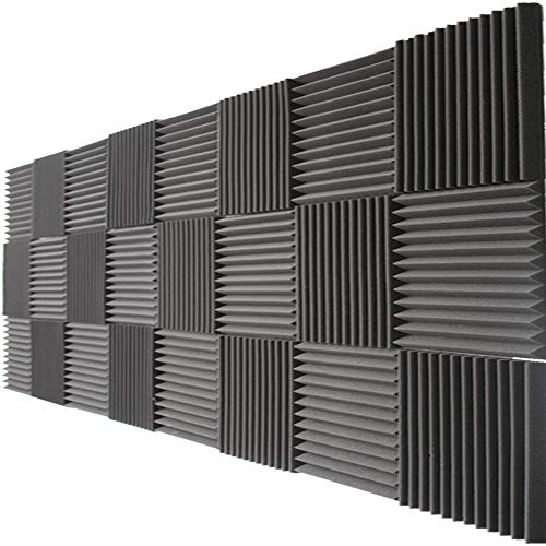 Mybecca 2' X 12' X 12' Acoustic Panels Studio Foam Wedges, 48 Pack
