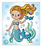 Pracht Creatives Hobby DD3-022 Diamond Dotz Süße Meerjungfrau, funkelndes Diamantenbild zum Selbstgestalten, ca. 23 x 25 cm groß, Malen mit Diamanten, Neuer und kreativer Basteltrend, bunt