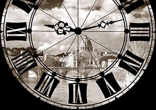 AG Design FTS 1322 Uhr, Papier Fototapete - 360x254 cm - 4 teile, Papier, multicolor, 0,1 x 360 x 254 cm