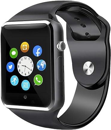 15d88223343428 Sazooy Smart Watch, Bluetooth Touchscreen Smart Wrist Watch Smartwatch  Phone Fitness Tracker with SIM SD