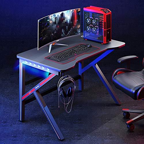 Mesa de Juegos Gaming para Computadora LED,con Gancho para Auriculares, Mesa Gaming PC Escritorio,80 * 60 * 75