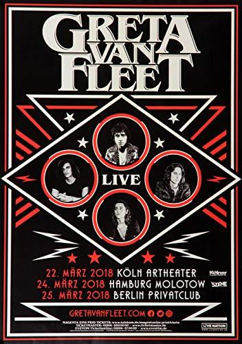 Greta Van Fleet - Live, Tour 2018 » Konzertplakat/Premium Poster | Live Konzert Veranstaltung | DIN A1 «