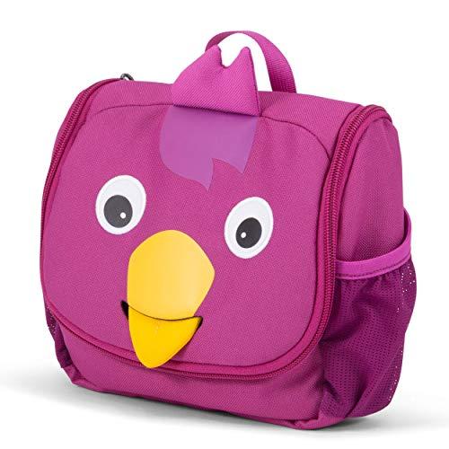 Affenzahn Kulturtasche Vogel für 1-3 Jährige Kinder im Kindergarten - Lila