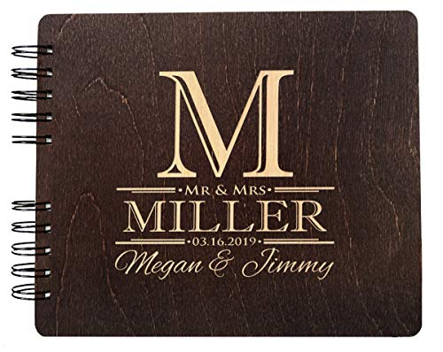 """Soon to Be Mr. and Mrs. Guest Book Custom Engraved Wedding Favor Couple Photo Booth Album for Bride Groom (11""""x8.5"""")"""