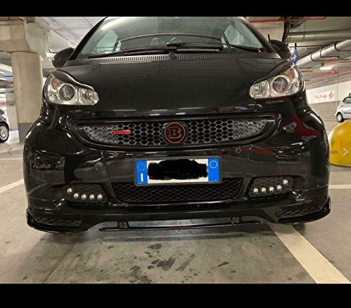 cc racing garage ltd Adesivo RESINATO STIKERS 3D GRIGLIA Smart 451 2012 Mascherina (Nero - Grigio)