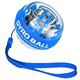 Gimehome Wrist Power Gyroscopic Ball,Wrist Strengthener and Forearm Exerciser for Stronger Arm Fingers Wrist Bones and Muscle (Blue in String, Adult)