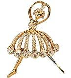 Emorias 1 Pcs Diamante Broche Ballet Hebilla Exquisita Bufanda Pin Clip Pinza Broche de Mujer de Moda Joyería Accesorios