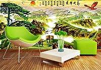 3D壁紙万里の長城はパインイーグルの素晴らしい展示会を歓迎しますHongtu中国の絵画の背景の壁のリビングルームのソファのベッドルームの壁画-130x60cm