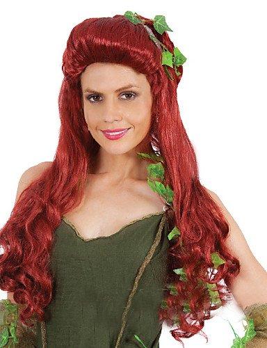 ahom (perruque Noble MS Poison Ivy Cosplay Cheveux Bouclés perruque et Europe et des États-Unis vacances spécial perruques