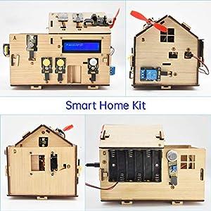 KEYESTUDIO Smart Home Starter Kit for Arduino UNO, Electronics Home Automation Coding Toys Kit, Wooden House DIY Kit…