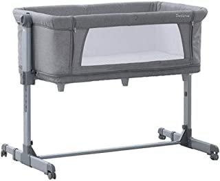 Travel cot with Folding Mattress, Cradle and Changing Table, 100 x 50 cm, Multicolor Grey (Color : Grey)