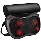 Back Massager and Shiatsu Neck Massage Pillow with Heat, Deep Tissue Kneading for Shoulder, Lower Back, Calf and Muscle Pain Relief, Relaxation Gifts for Men, Women - Use at Home, Office, and Car