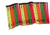 Musgrave Pencil, Sign Language Pencils, Number 2HB, Box of 36, Colors Yellow, Orange, Green, Pink