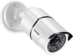 ZOSI 1080P 4-in-1 TVI/CVI/AHD/CVBS CCTV Security Camera 36 IR LEDs Outdoor Night Vision 100ft 3.6mm Bullet Camera Aluminum Metal Housing, Compatible for HD-TVI, AHD, CVI, and CVBS/960H analog DVR