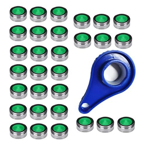 Wasserhahn sieb Einsatz, Strahlregler M24 Low Flow Wassersparhahn Belüfter mit 1 Stück Universaler Schraubenschlüssel für Küche Waschbecken Bad Badewanne