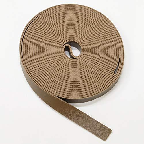 合皮 持ち手 テープ 10mm幅 3m 合成皮革 フェイクレザー バッグ ショルダー (スモーキーブラウン)