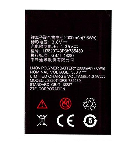 Todobarato24h Bateria Compatible con Zte Blade L3, 2000 mAh Voltaje 3.8v Li3820T43P3h785439