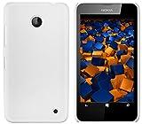 mumbi Funda Compatible con Nokia Lumia 630/635, Blanco Claro