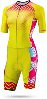 Cycling Skin Suit Summer Women's Sports Riding Short-sleeved Breathable One-piece Skating Moisture Wicking Suit